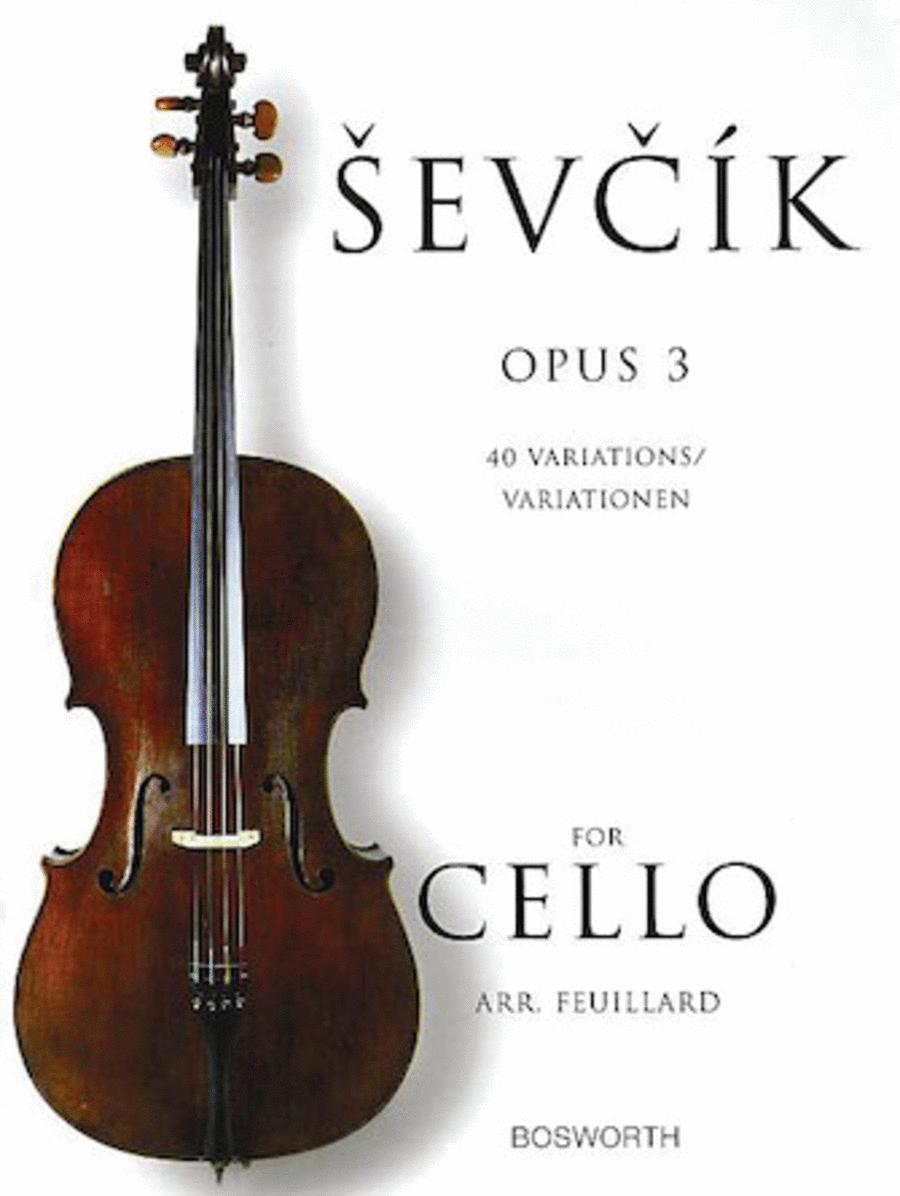 Sevcik for Cello - Opus 3