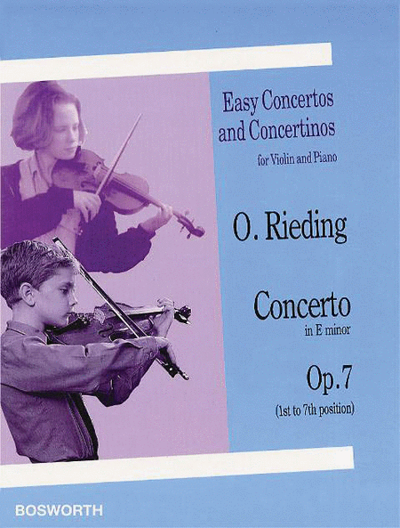 Oskar Rieding: Concerto In E Minor (Violin/Piano)