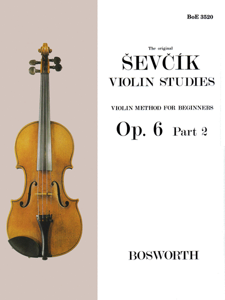 Otakar Sevcik: Violin Studies - Violin Method For Beginners Op.6 Part 2