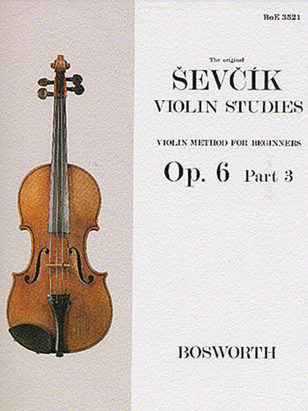Sevcik Violin Studies - Opus 6, Part 3