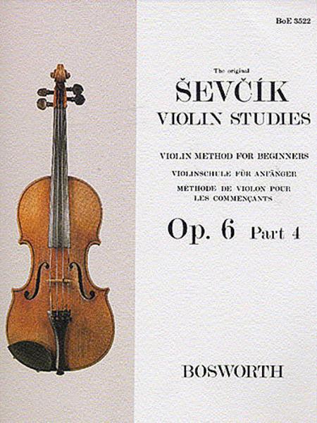 Sevcik Violin Studies - Opus 6, Part 4