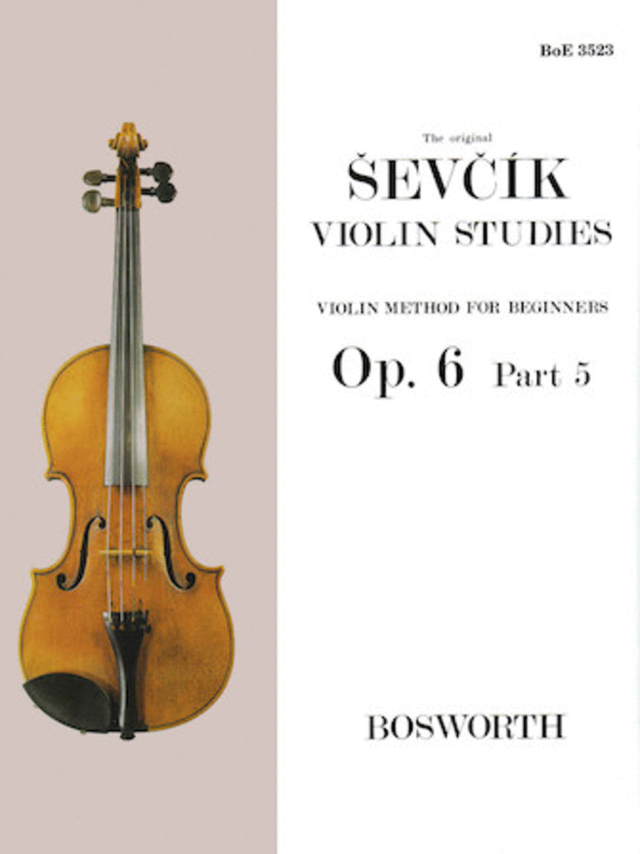 Sevcik Violin Studies - Opus 6, Part 5
