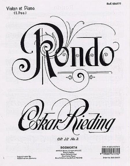 Rondo for Violin and Piano Op. 22, No. 3