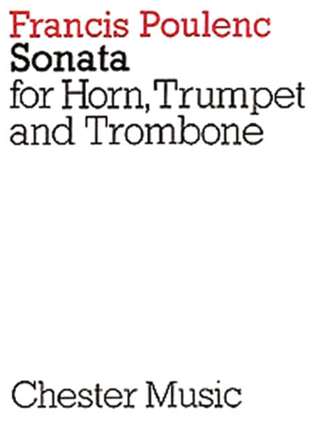Sonata for Horn, Trumpet and Trombone (Score only)