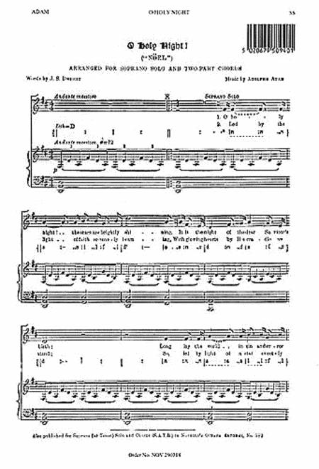 Adolphe Adam: O Holy Night (Soprano Solo)