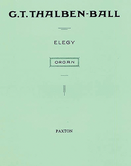 Elegy for Organ