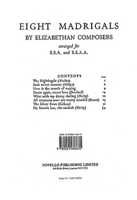 8 Madrigals by Elizabethan Composers