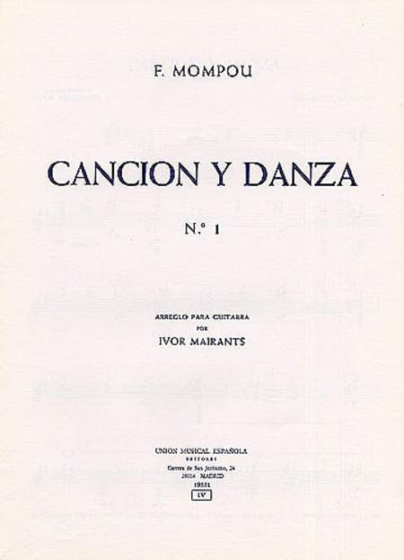 Mompou Cancion Y Danza No.1 (mairants) Guitar