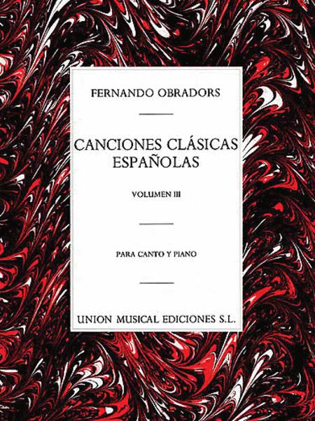 Canciones Clasicas Espanolas - Volumen III