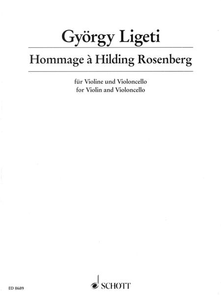 Hommage à Hilding Rosenberg