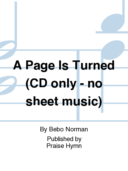 A Page Is Turned (CD only - no sheet music)