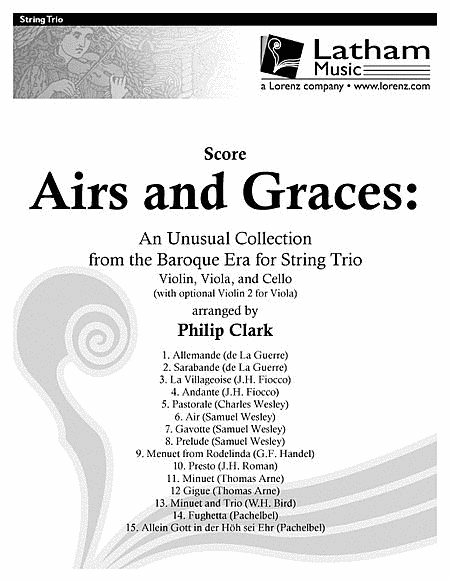 Airs and Graces: An Unusual Collection from the Baroque Era for String Trio - Score only