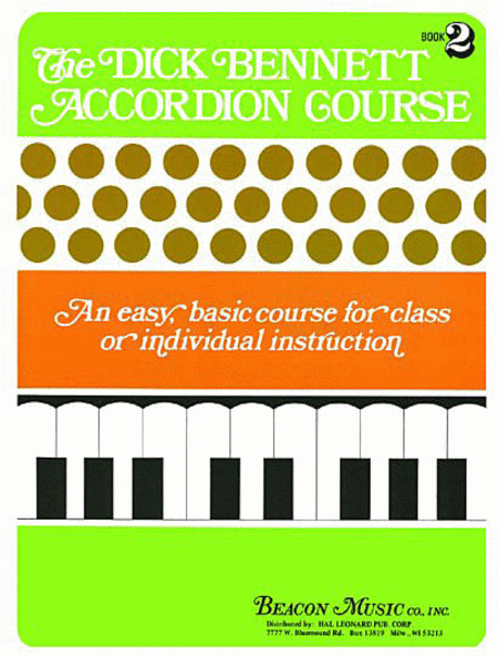 The Dick Bennett Accordion Course Book 2