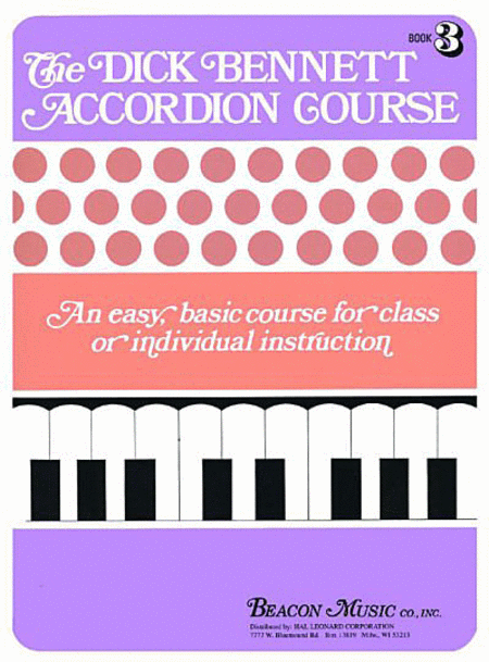 The Dick Bennett Accordion Course Book 3