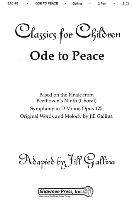Ode to Peace - Based on the Finale from Beethoven's Symphony, No. 9