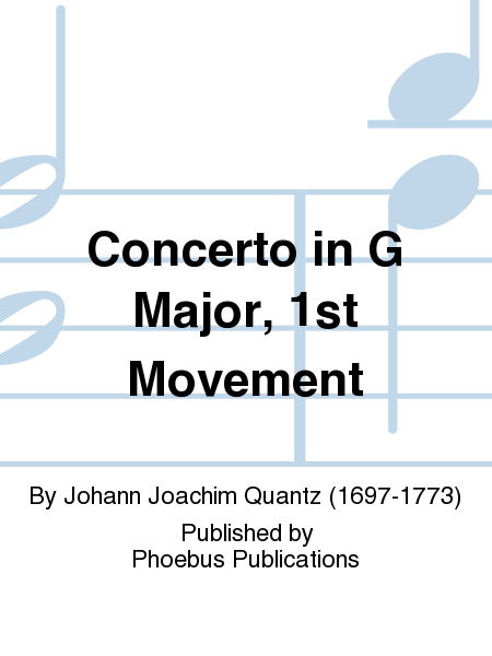 Concerto in G Major, 1st Movement