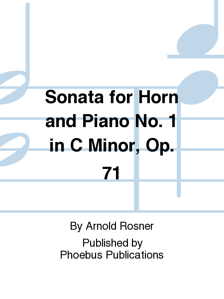 Sonata for Horn and Piano No. 1 in C Minor, Op. 71