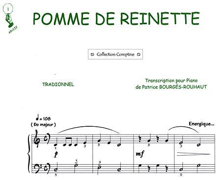 pomme de reinette sheet music by patrice bourges sheet. Black Bedroom Furniture Sets. Home Design Ideas