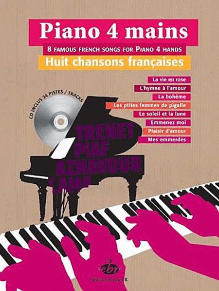 8 Chansons Francaises Pour Piano 4 Mains