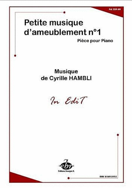 Petite Musique D'Ameublement No.1