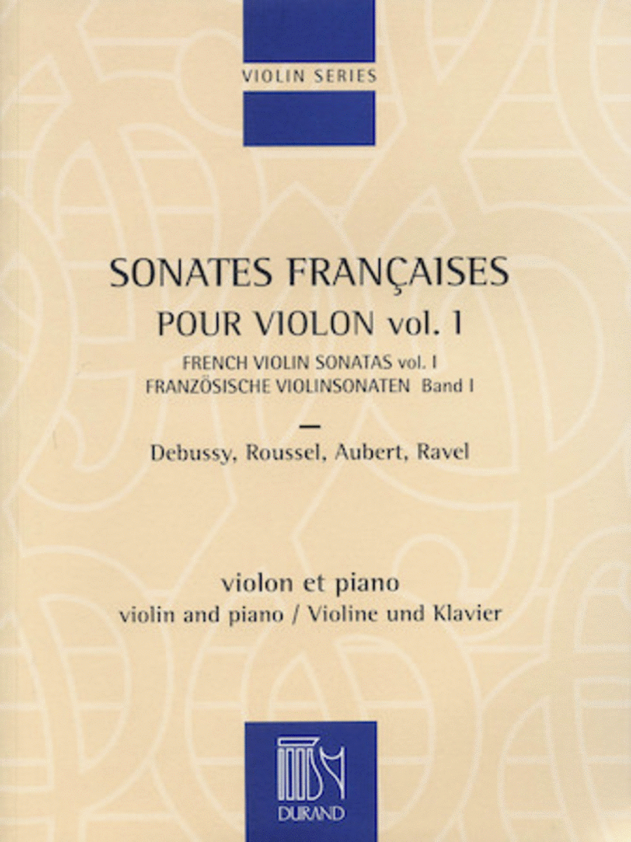 French Violin Sonatas - Volume 1