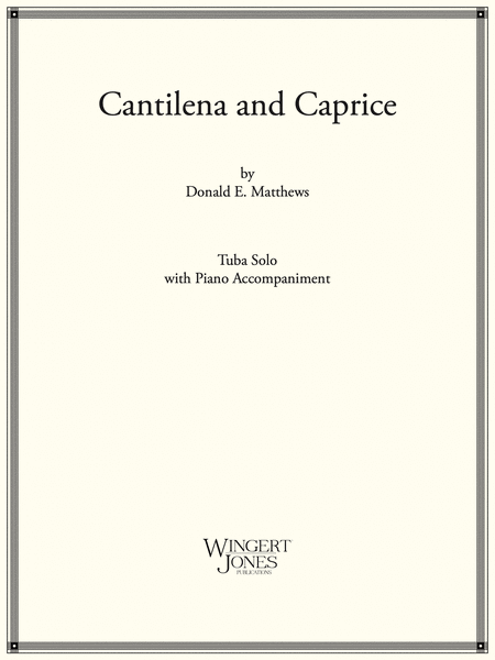 Cantilena and Caprice - Tuba Solo (P.O.D.)