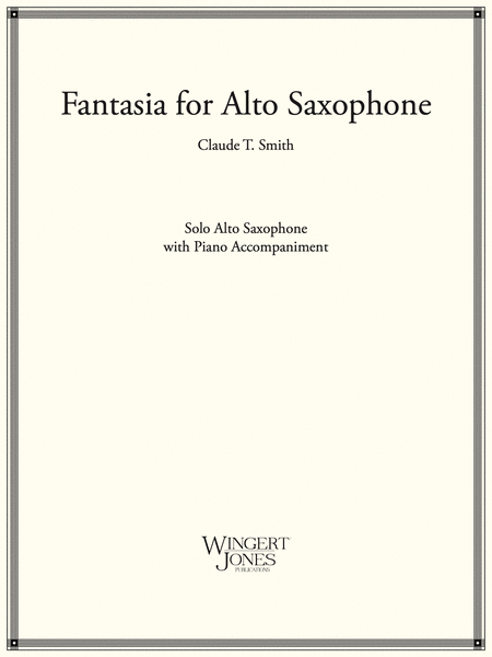 Fantasia for Alto Saxophone