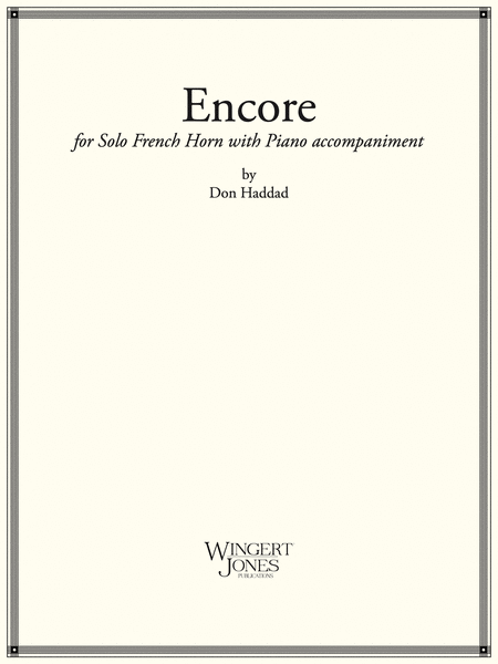 Encore - French Horn Solo (P.O.D.)
