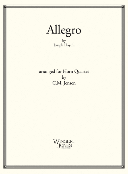 Allegro - French Horn Quartet (P.O.D.)