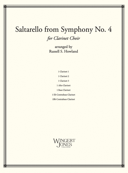 Saltarello from Symphony #4 - Clarinet Choir (P.O.D.)