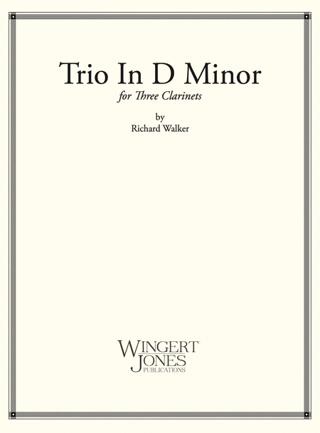 Trio in D Minor - Clarinet Trio (P.O.D.)