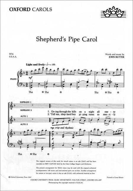 Shepherd's Pipe Carol