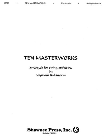 Ten Masterworks for String Orchestra