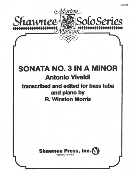 Sonata No. 3 in A Minor