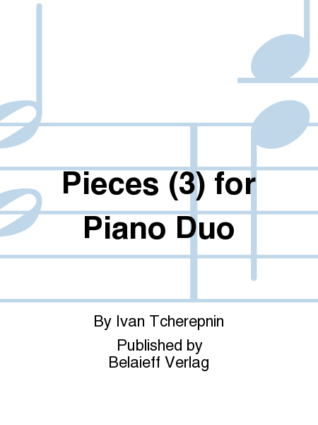 Pieces (3) for Piano Duo