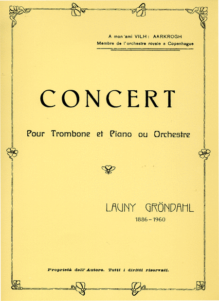 Concert pour Trombone et Piano