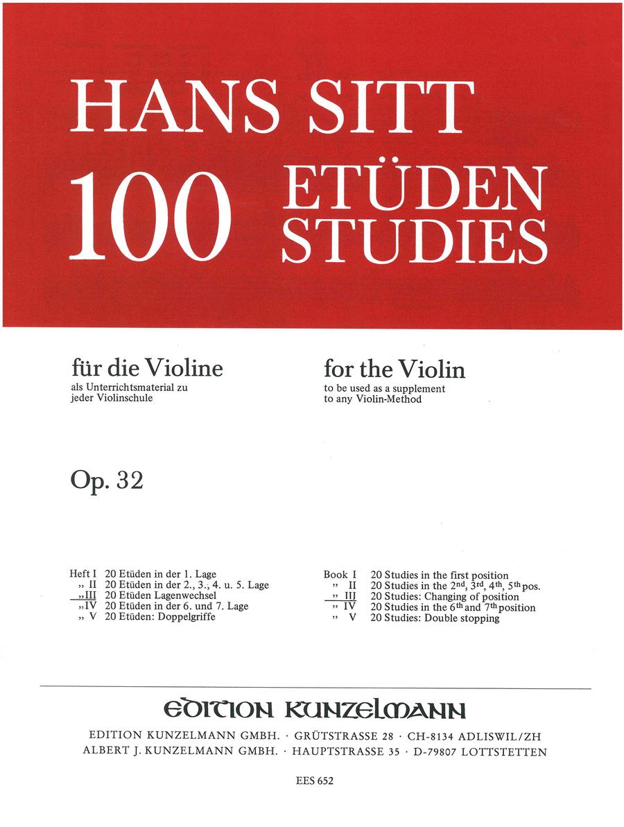 Etudes (100) Op. 32 - Volume 3