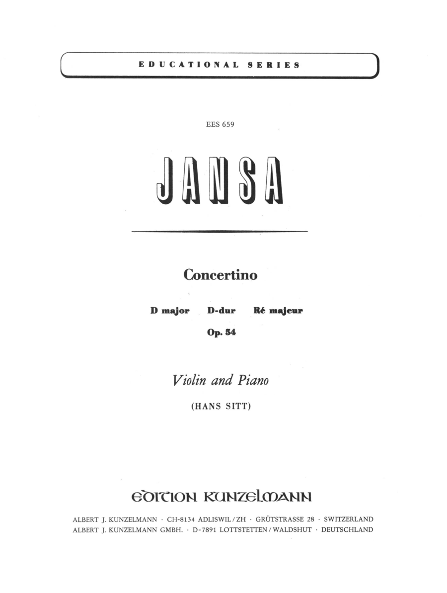 Concertino in D Major, Op. 54