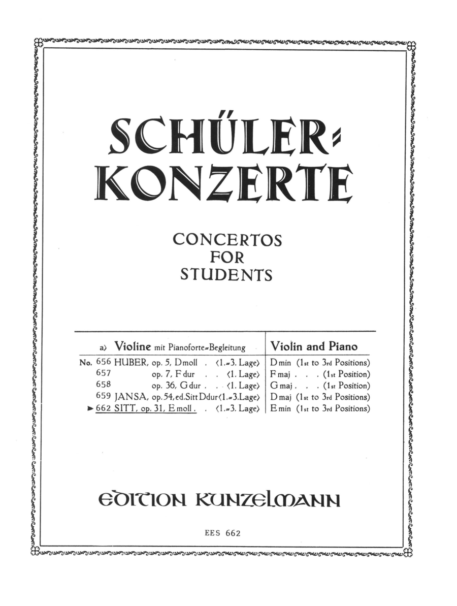 Concertino for Violin in E Minor, Op. 31
