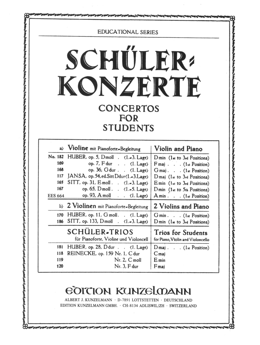 Concertino for Violin in A Minor Op.93