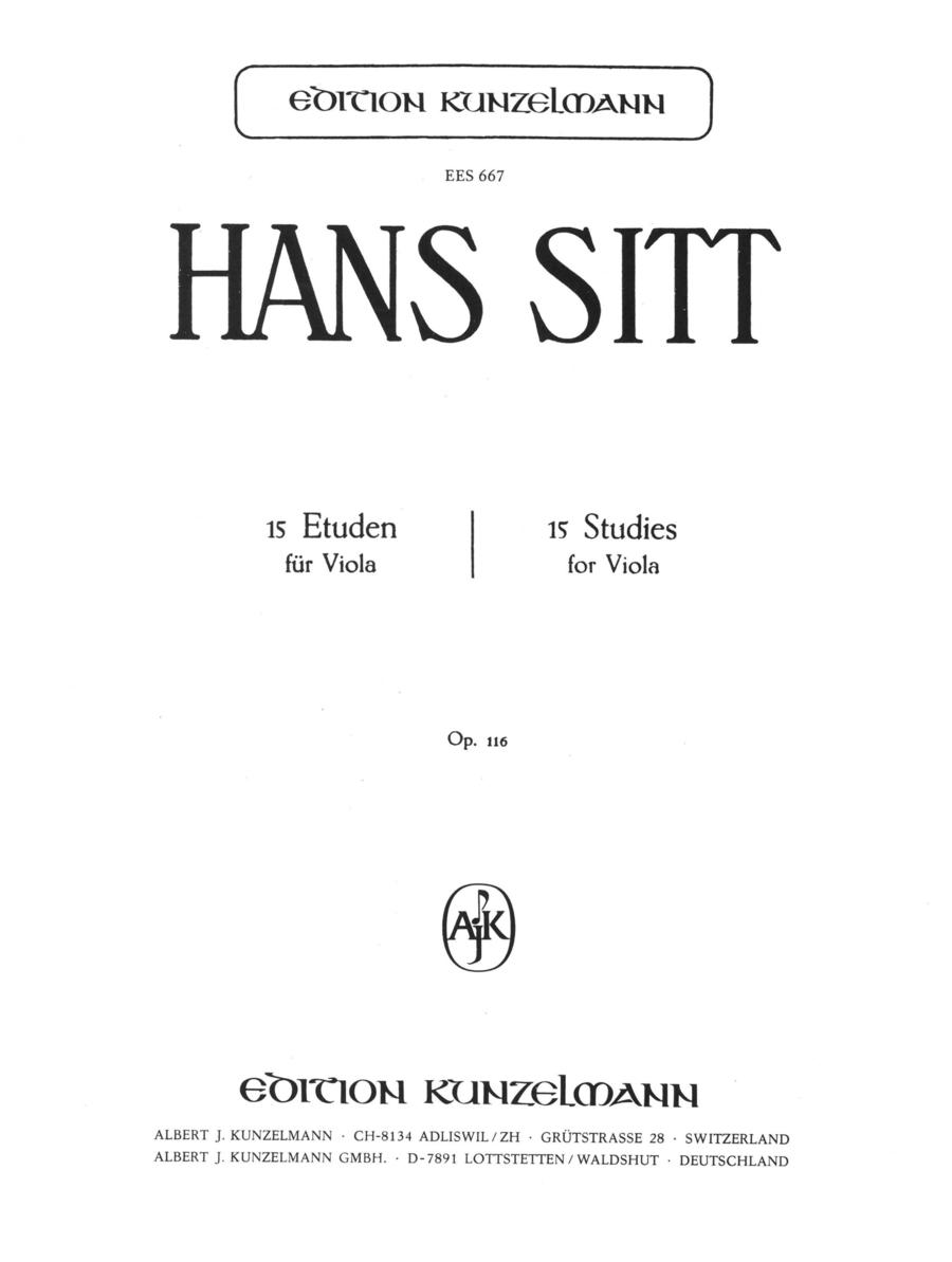 Etudes (15) Op. 116