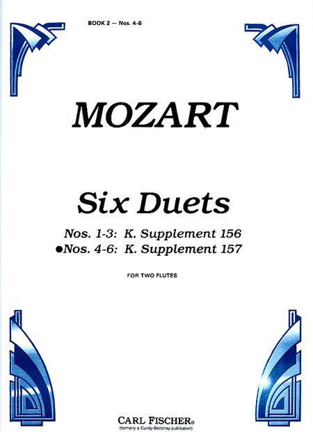 Six Duets for Two Flutes, Op. 75. Nos. 4-6