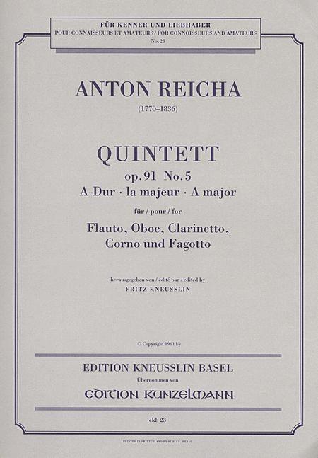 Woodwind Quintet in A Major Op. 91 No. 5