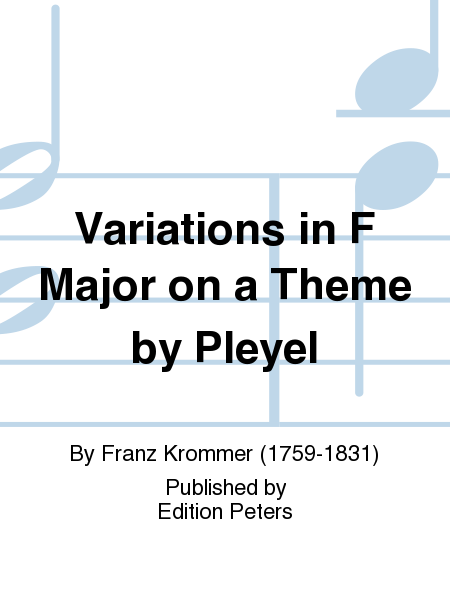 Variations in F Major on a Theme by Pleyel