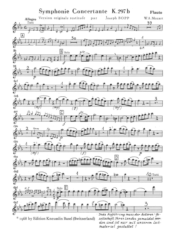 Symphonie Concertante K297b