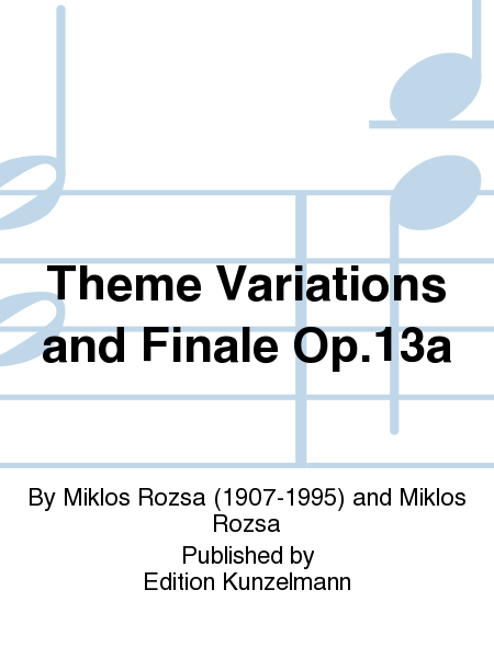 Theme Variations and Finale Op.13a