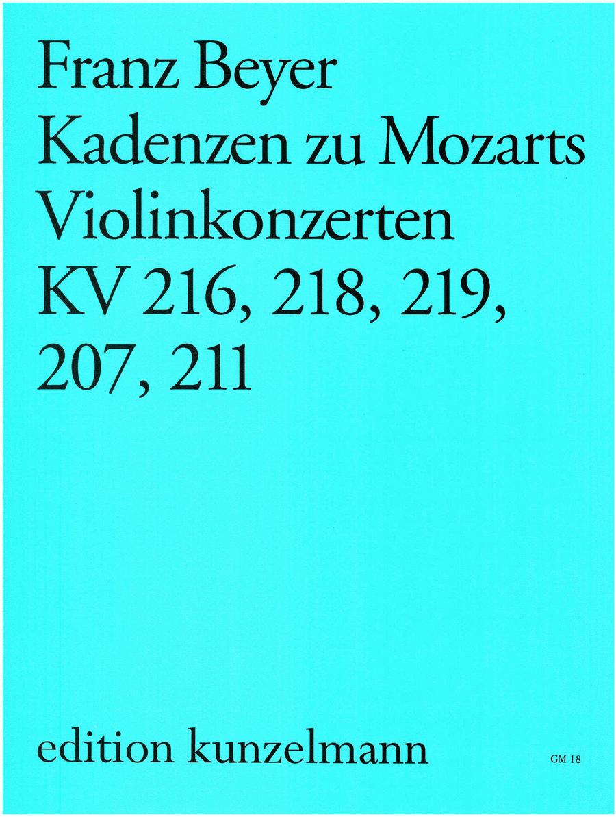 Cadenzas to Mozart Violin Concerti