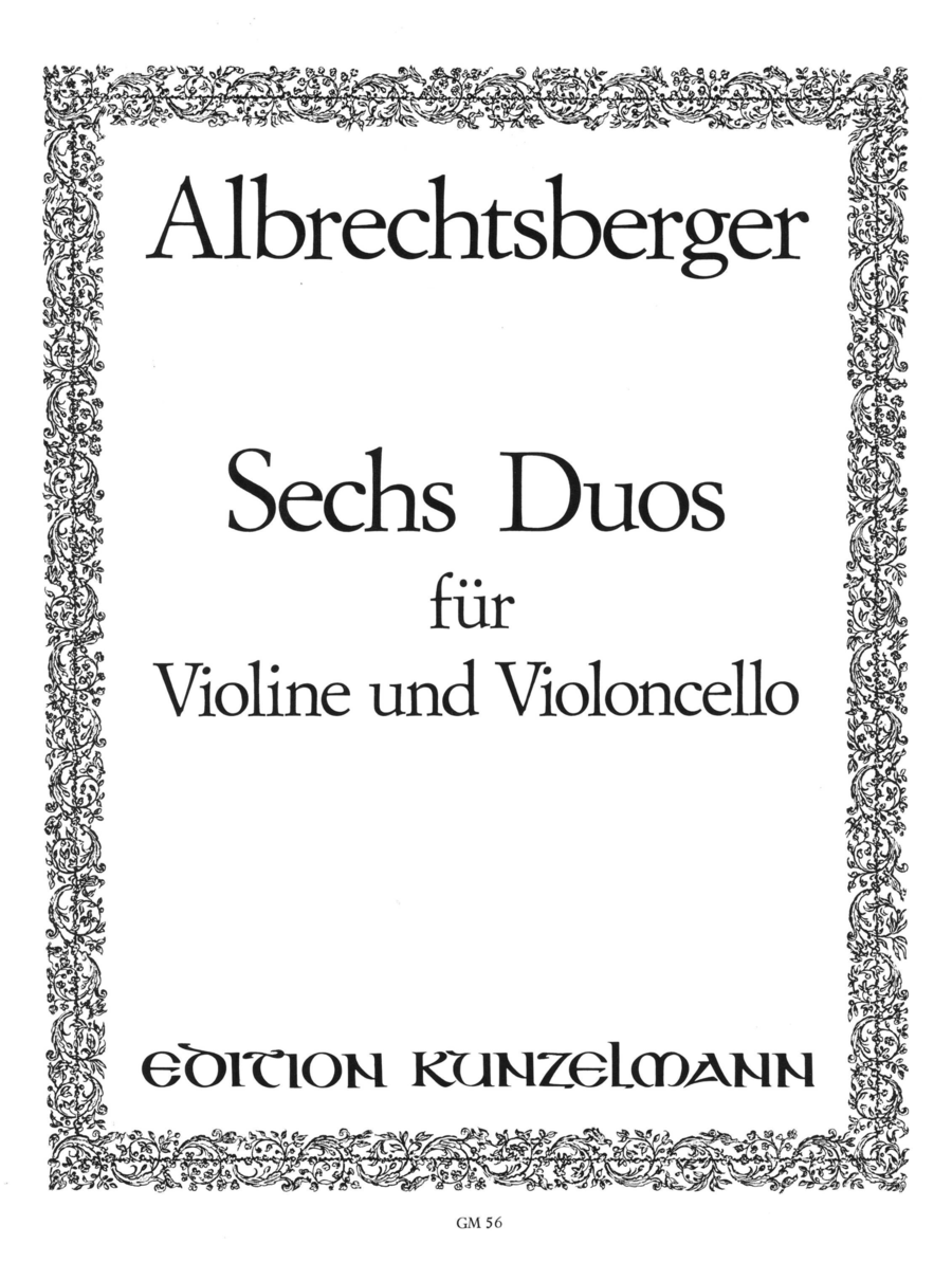 Duos (6) for Violin and Cello