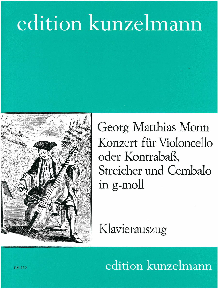 Konzert fur Violoncello oder Kontrabass (Concerto for Cello or Bass) in G Minor