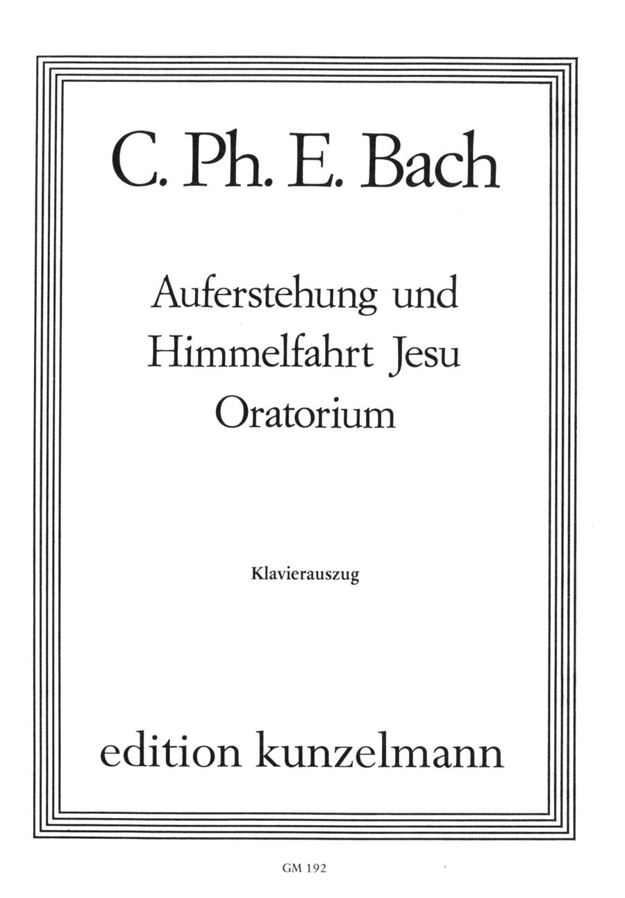 Auferstehung und Himmelfahrt Jesu (Oratorio)
